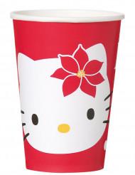 8 copos Hello Kitty Natal™