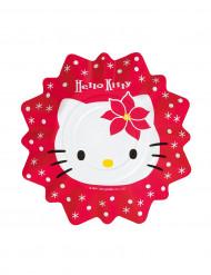 8 pratos para sobremesa Hello Kitty Natal™