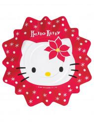 8 pratos Hello Kitty Natal™