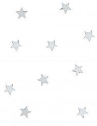 10 MIni espelhos prateados estrelas