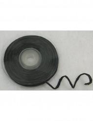 Rolo de ráfia com fio metálico preto