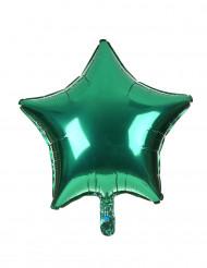 Balão alumínio estrela verde