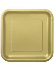 14 grandes pratos em cartão dourados