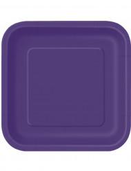 14 Pratos grandes de cartão lilás