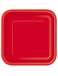 14 pratos vermelhos em cartão