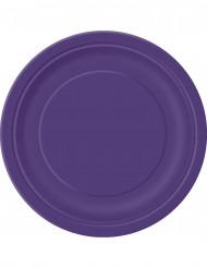 16 Pratos redondos de cor lilás