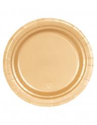 16 Pratos de cartão dourado