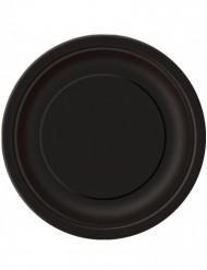 16 Pratos de cor preta