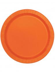 16 Pratos de cartão cor de laranja