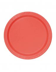 20 Pratos pequenos vermelhos de cartão