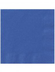 20 Guardanapos de papel azuis 33 x 33 cm