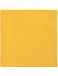 20 Guardanapos de papel amarelos