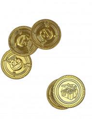 30 moedas em ouro caveira