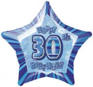 Balão estrela azul 30 anos
