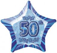 Balão estrela azul 50 anos
