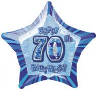 Balão estrela azul 70 anos
