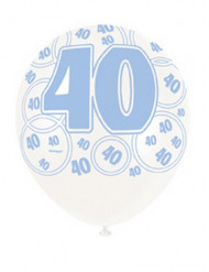 Balões azuis 40 anos