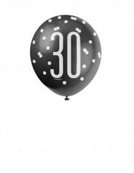 Balões 30 anos cinzentos