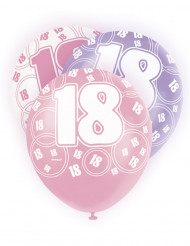 Balões cor-de-rosa 18 anos