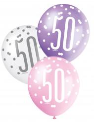 Balões cor-de-rosa 50 anos