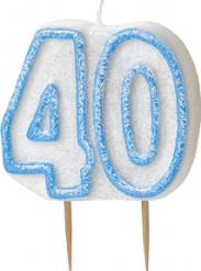 Vela 40 anos azul