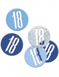 Confetis cinzentos/ azuis 18 anos