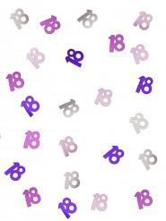Confetis cor-de-rosa/cinzentos 18 anos