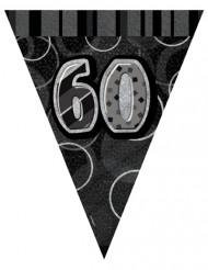 Grinalda bandeirolas cinzentas 60 anos