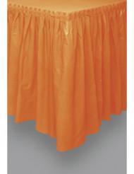 Saiote de mesa cor de laranja de plástico