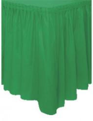Saia de mesa verde de plástico