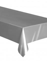 Toalha de plástico fino prateado 137 x 274 cm
