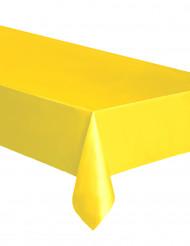 Toalha retangular amarela de plástico