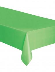 Toalha retangular de plástico verde