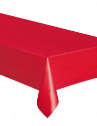 Toalha retangular vermelha de plástico