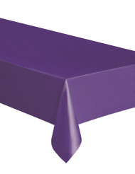 Toalha retangular lilás de plástico