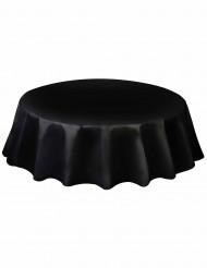 Toalha redonda de plástico preta