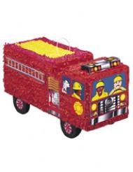 Pinhata camião de bombeiro vermelho