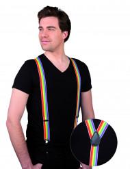 Suspensórios multicoloridos de adulto