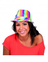 Chapéu borsalino colorido com lantejoulas adulto