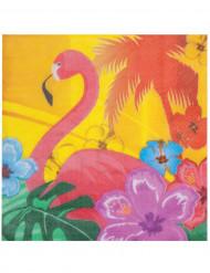12 Guardanapos Flamingos rosas
