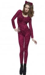 Disfarce de Leopardo cor-de-rosa para adulto