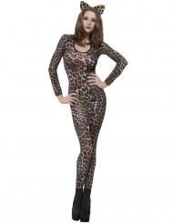 Disfarce de Leoparde castanho para adulto