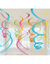 Decorações para pendurar coloridas