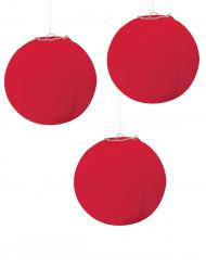 3 Lanternas vermelhas