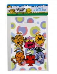 6 Sacos de festa em plástico Mr. Men and Little Miss™