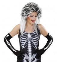 Luvas compridas esqueleto adulto