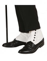 Cobre-sapatos brancos adulto