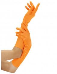 Luvas cor de laranja fluorescentes