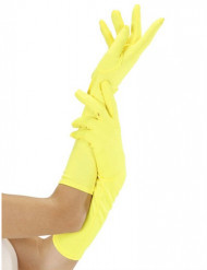Luvas compridas amarelas