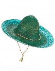 Sombrero mexicano verde adulto